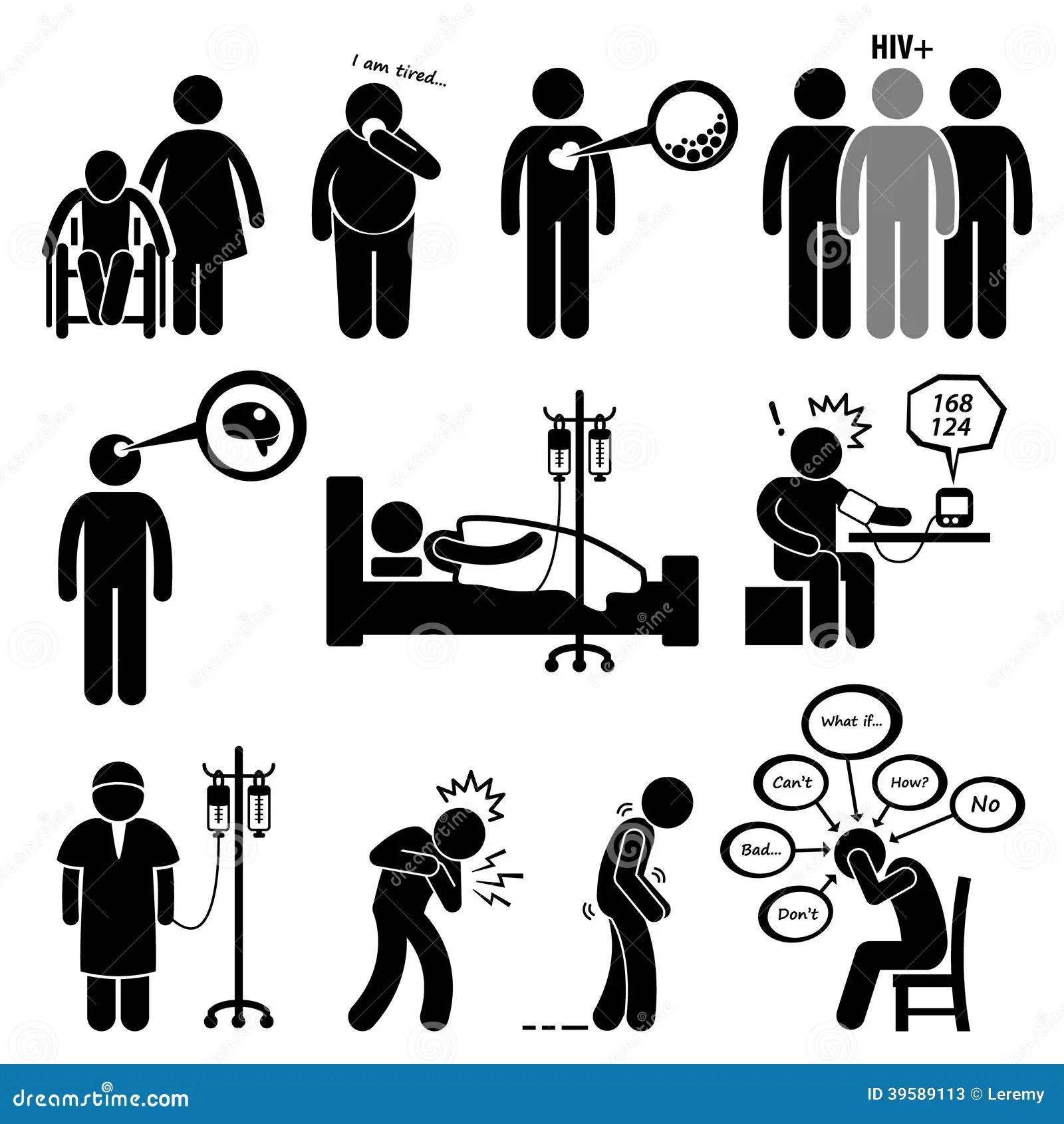 Malattie Comuni Dell Uomo E Clipart Di Malattia