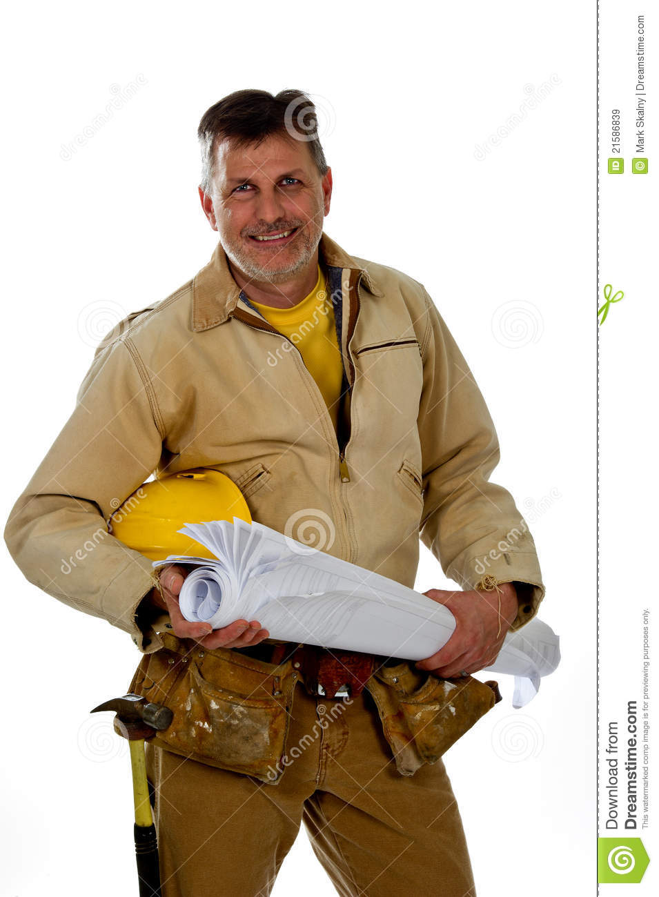 Male Construction Worker Wearing A Tool Belt Royalty Free