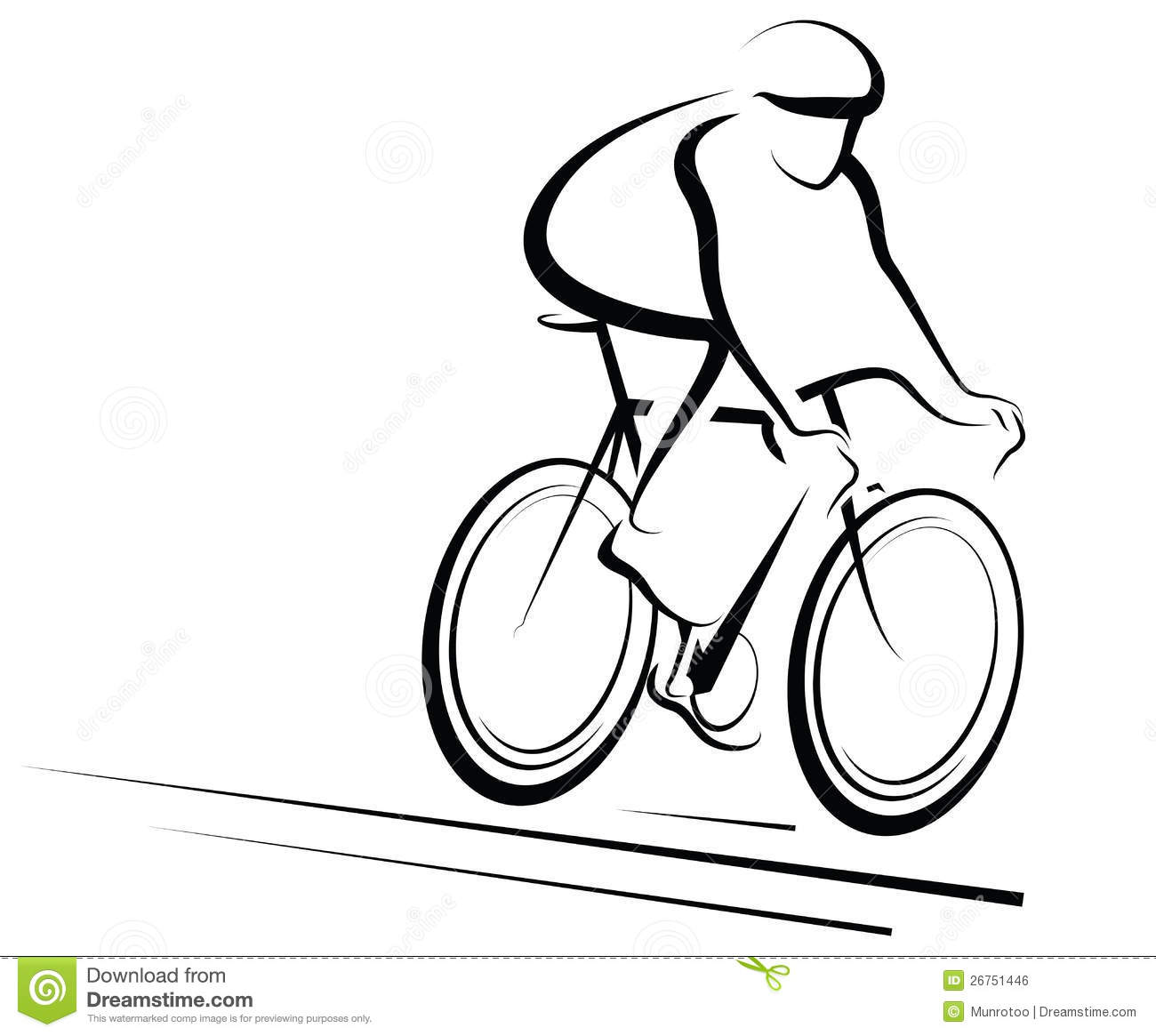 Male Cyclist Stock Vector Image Of Helmet Vector