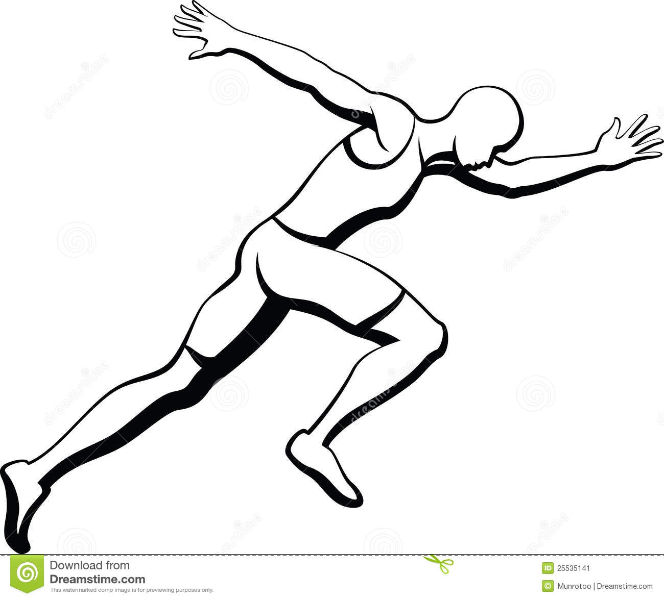 Male Sprinter Stock Image
