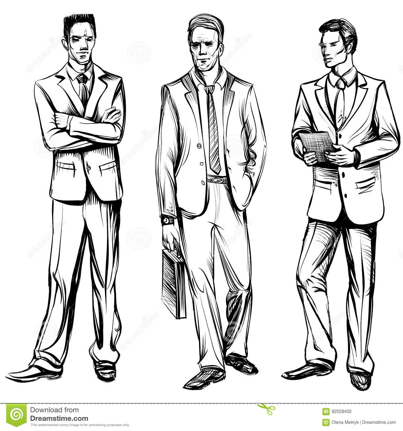 Salesman Drawing Strategy At Office Meeting Stock Image