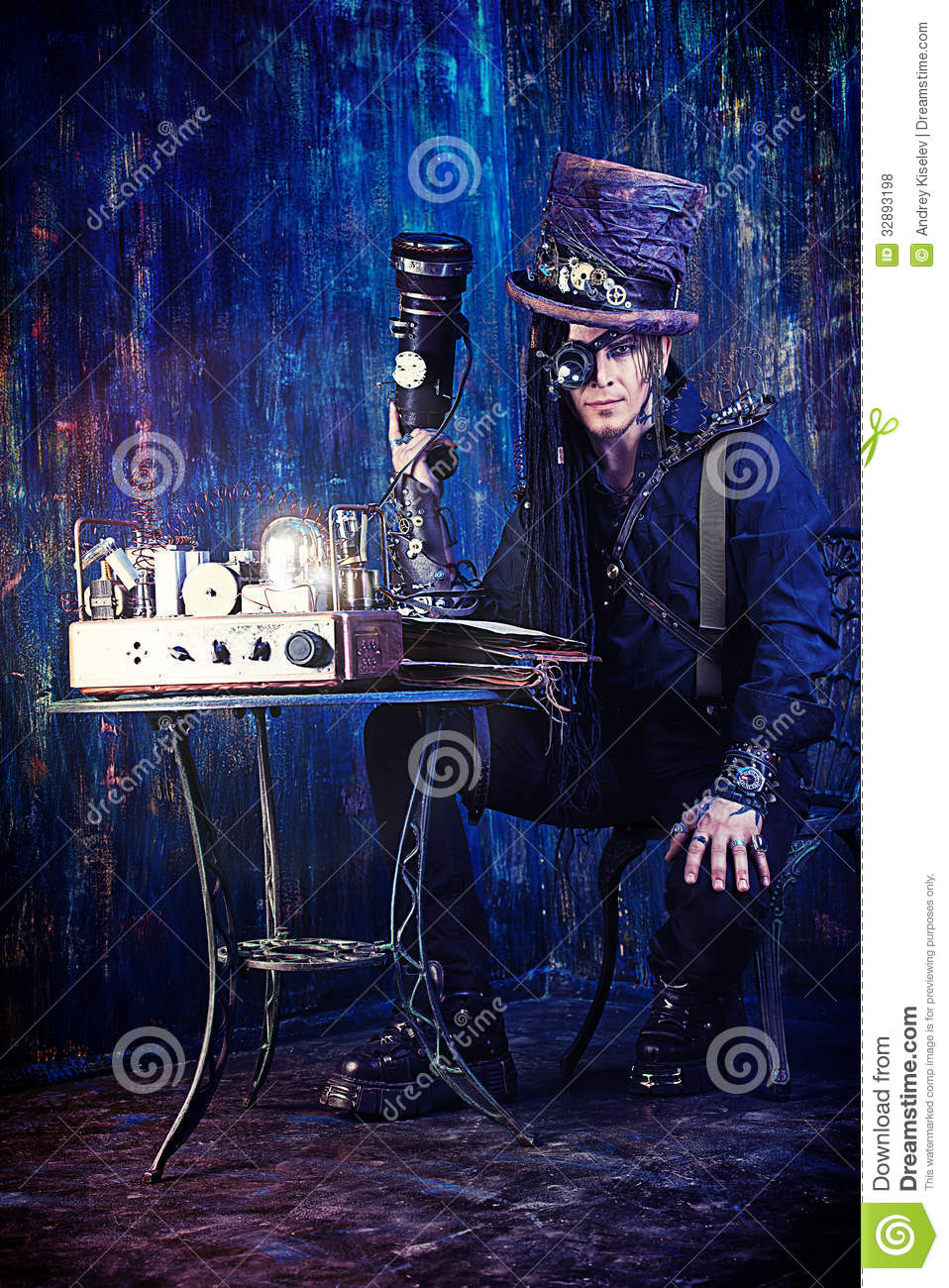 Man Cyberpunk Royalty Free Stock Photos Image 32893198