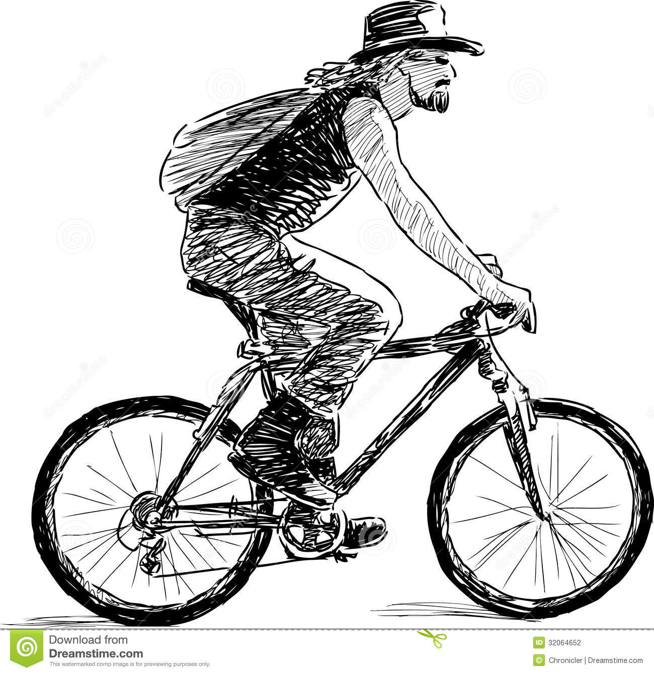 Man On A Cycle Stock Photography