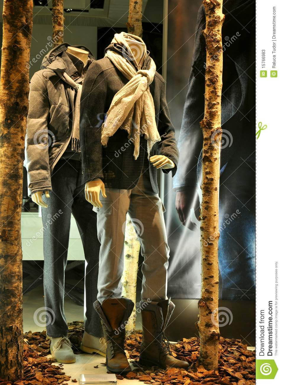 Man Fashion Store Window In Italy Stock Image Image