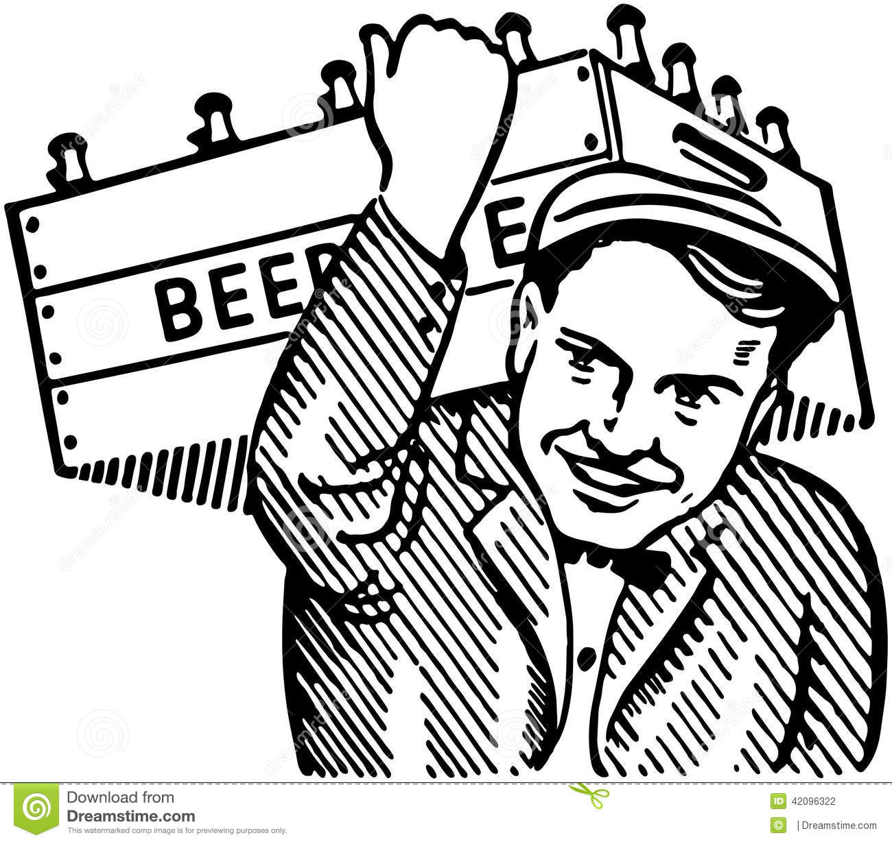 Man With Keg Of Beer Stock Vector Illustration Of Workers