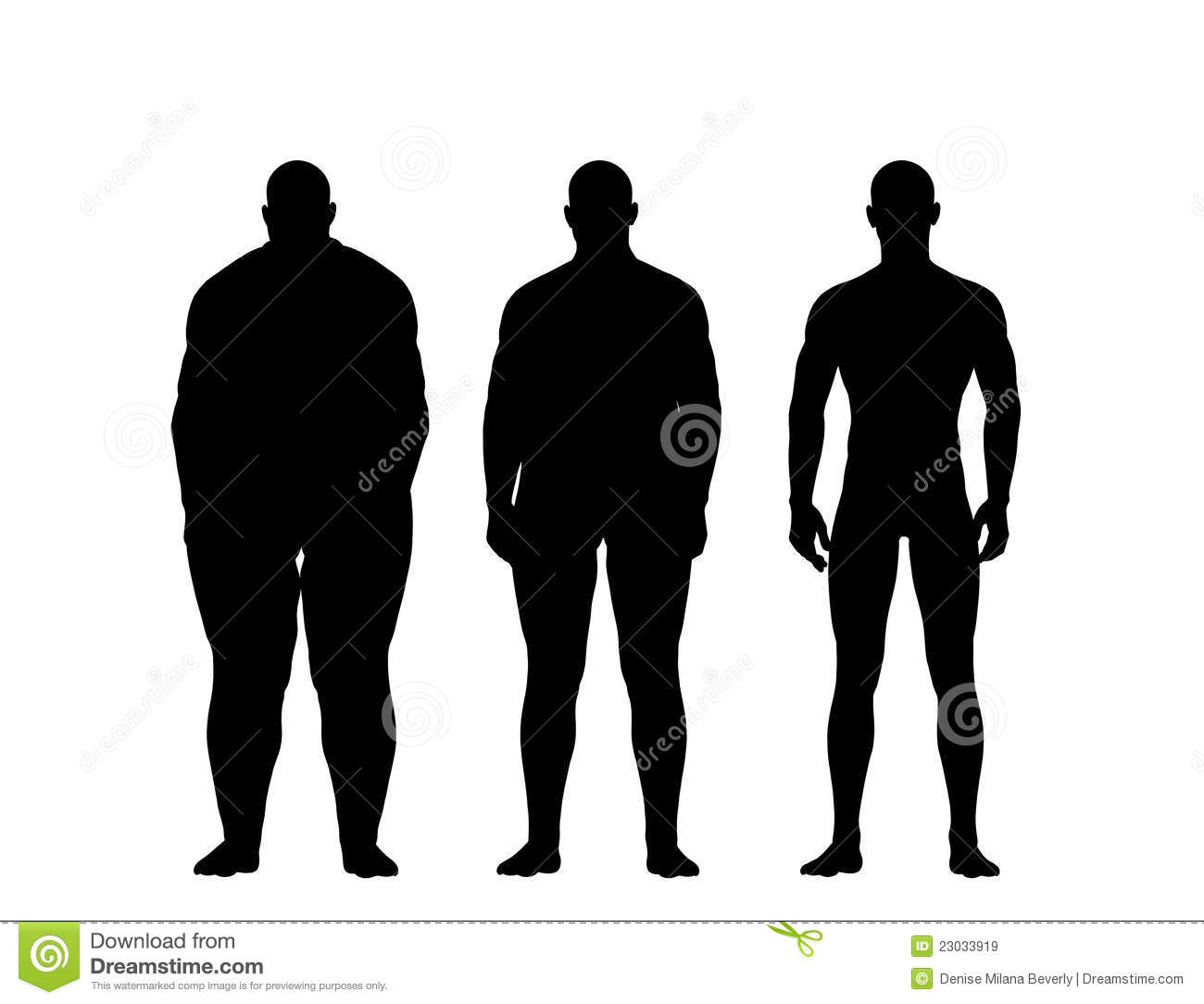 Man Losing Weight Royalty Free Stock Images