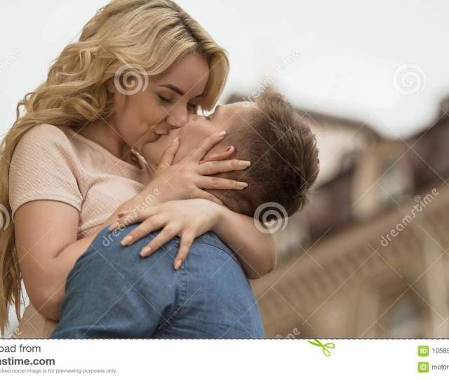 Man In Love Holding Girl And Kissing Her Tenderly Romantic Relationship Date Stock Video