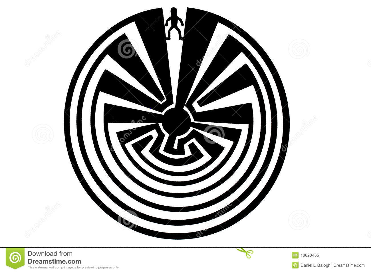 Man In The Maze Indian Symbol Royalty Free Stock Photo