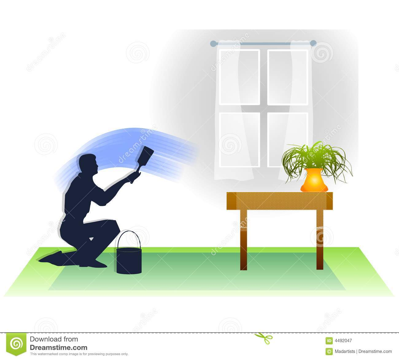 Man Painting Room In House Royalty Free Stock Photography