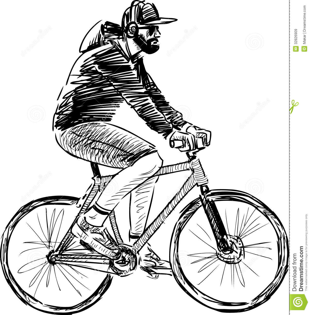 Man Riding A Bicycle Royalty Free Stock Images