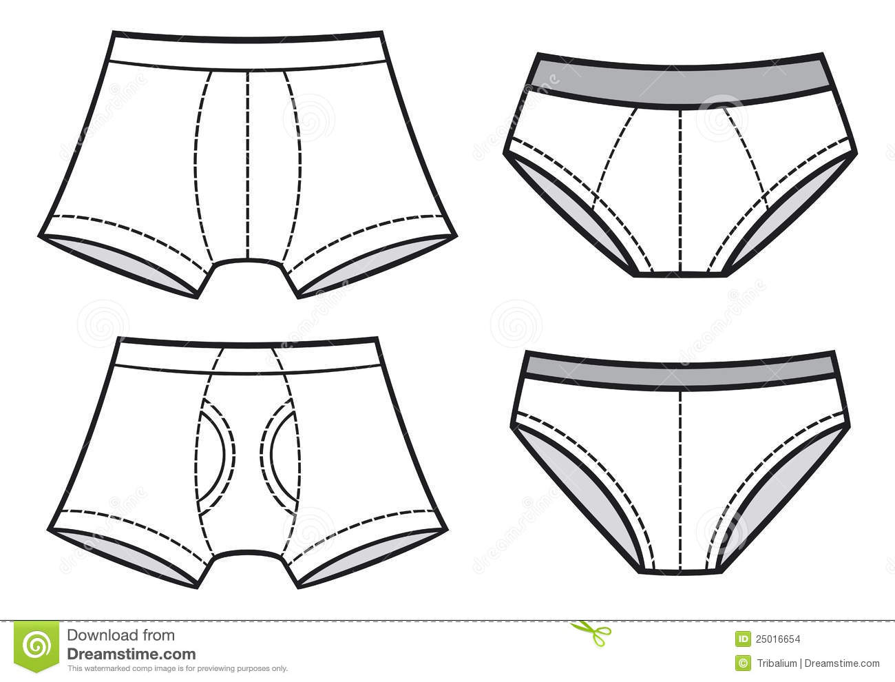 Man Underwear Stock Vector Image Of Pants Clothes