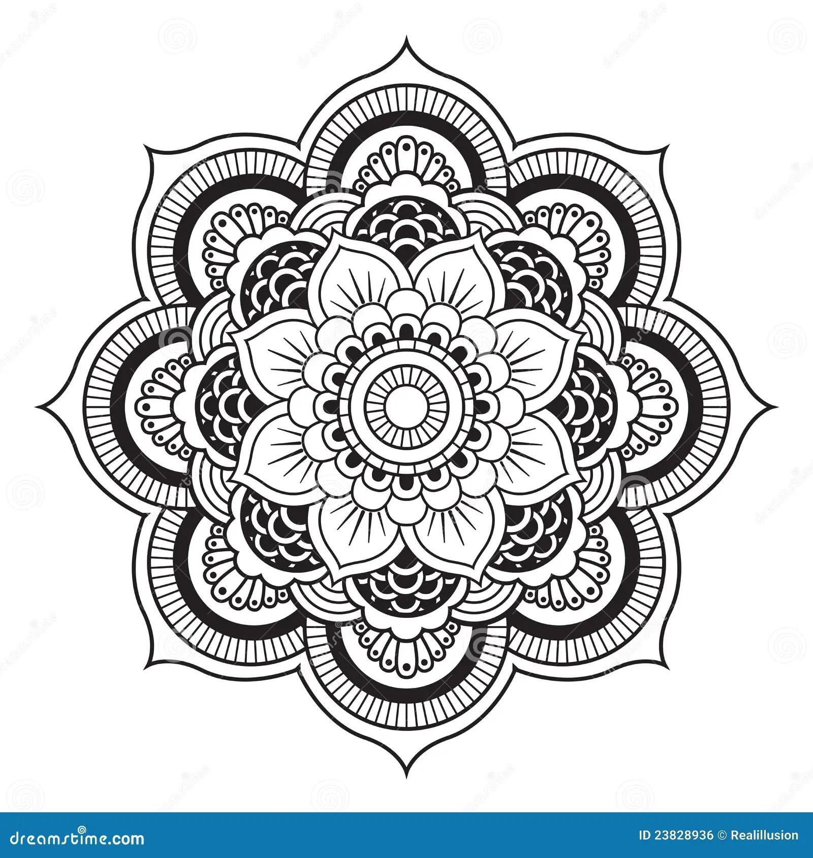 Mandala Vektor Abbildung Illustration Von In N