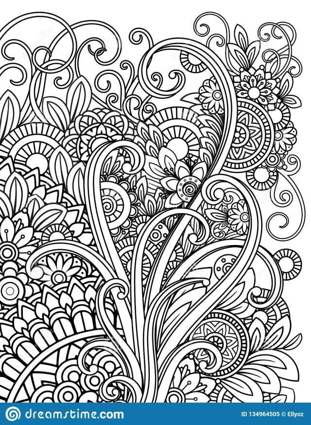 Mandala Adult Coloring Pages Stock Vector - Illustration of page