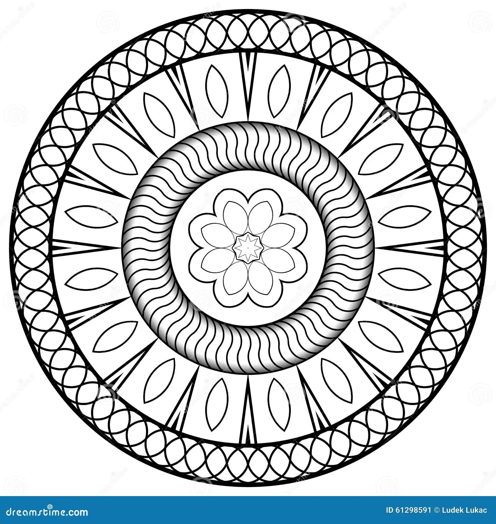 Mandala For Barn Stock Illustrationer Illustration Av