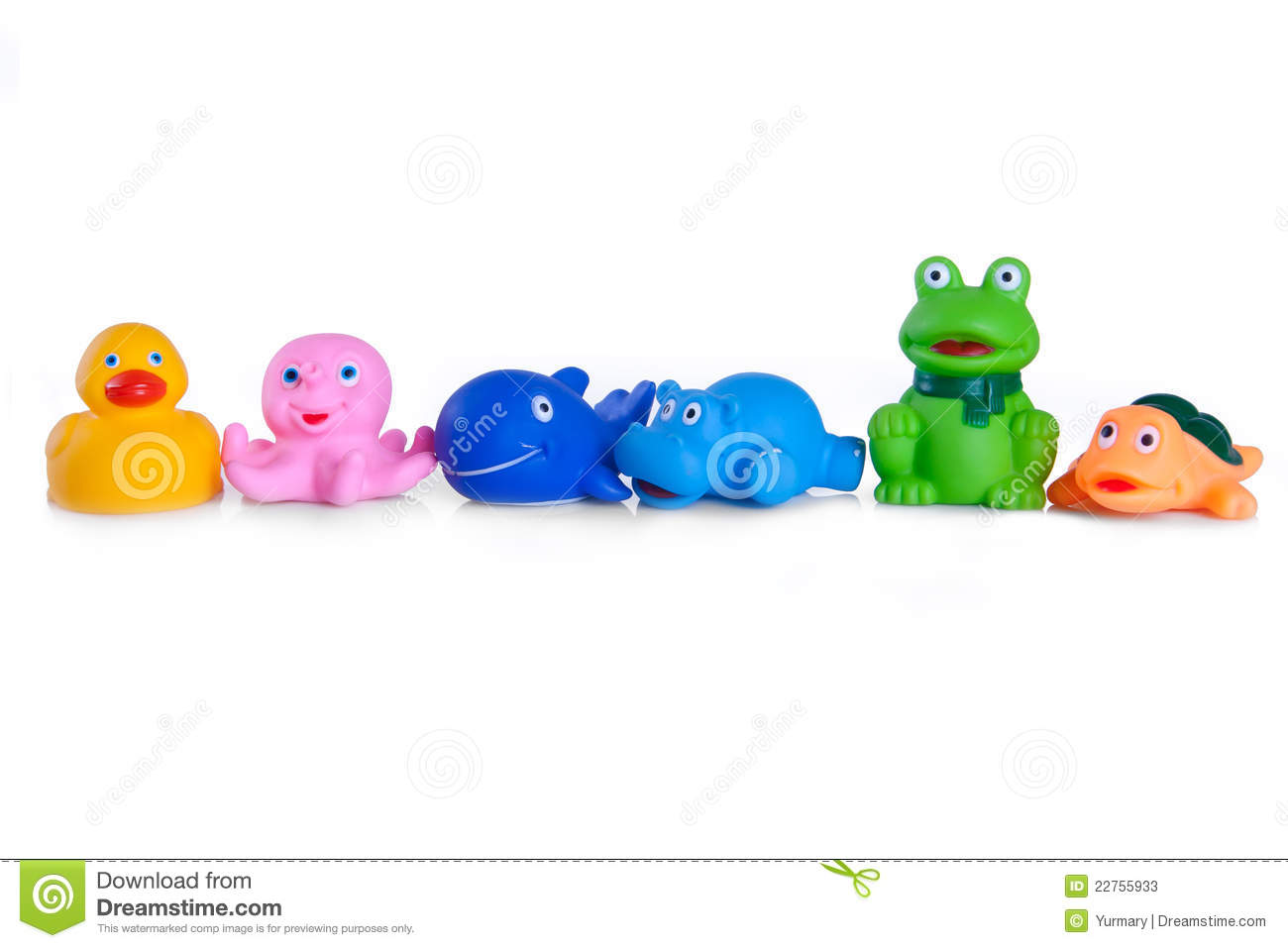 Many Different Toys Of Rubber Animals Stock Image Image