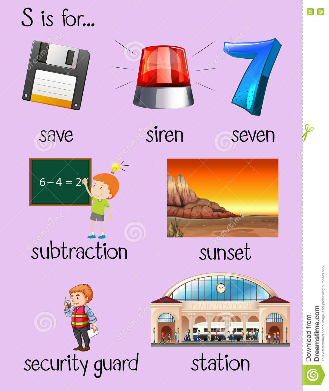 Many Words Begin With Letter Q Vector Illustration