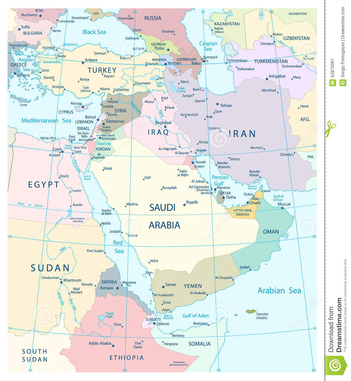 Map Middle East