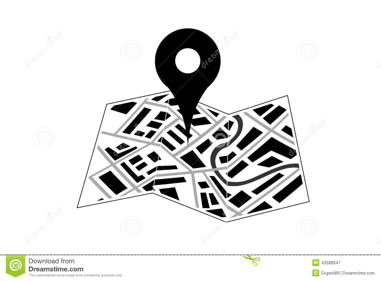 Map With Pin Icon Stock Vector Illustration Of Arrow