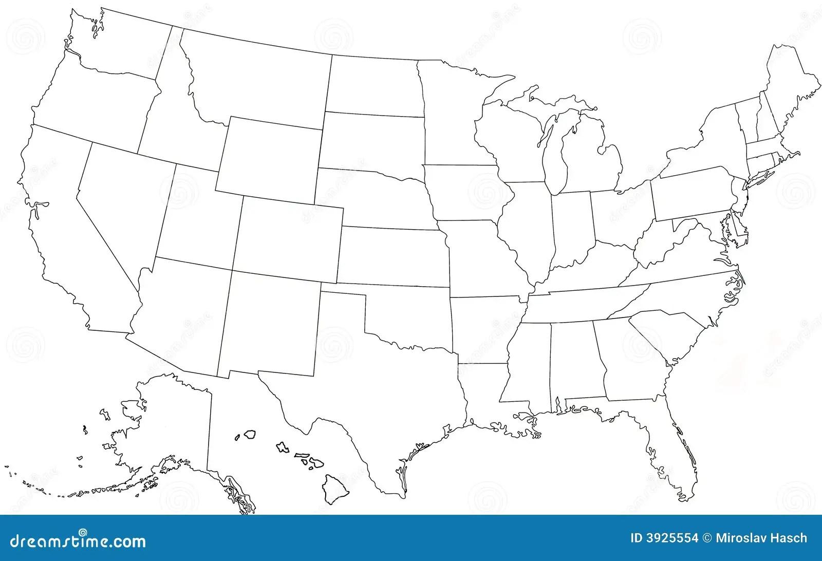 Stumme Karte Usa Kostenlos