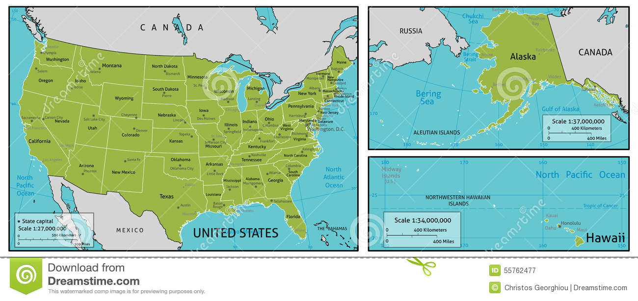 Map Of Usa Stock Vector Illustration Of Country Info 55762477