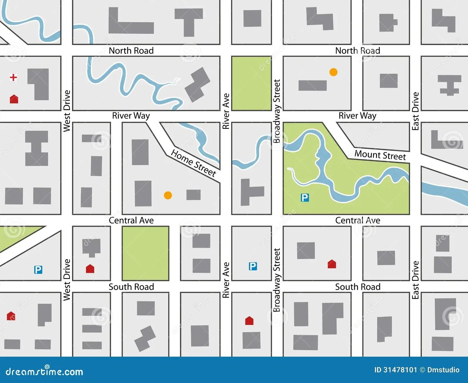 Mapa De Camino Del Vector Ilustracion Del Vector
