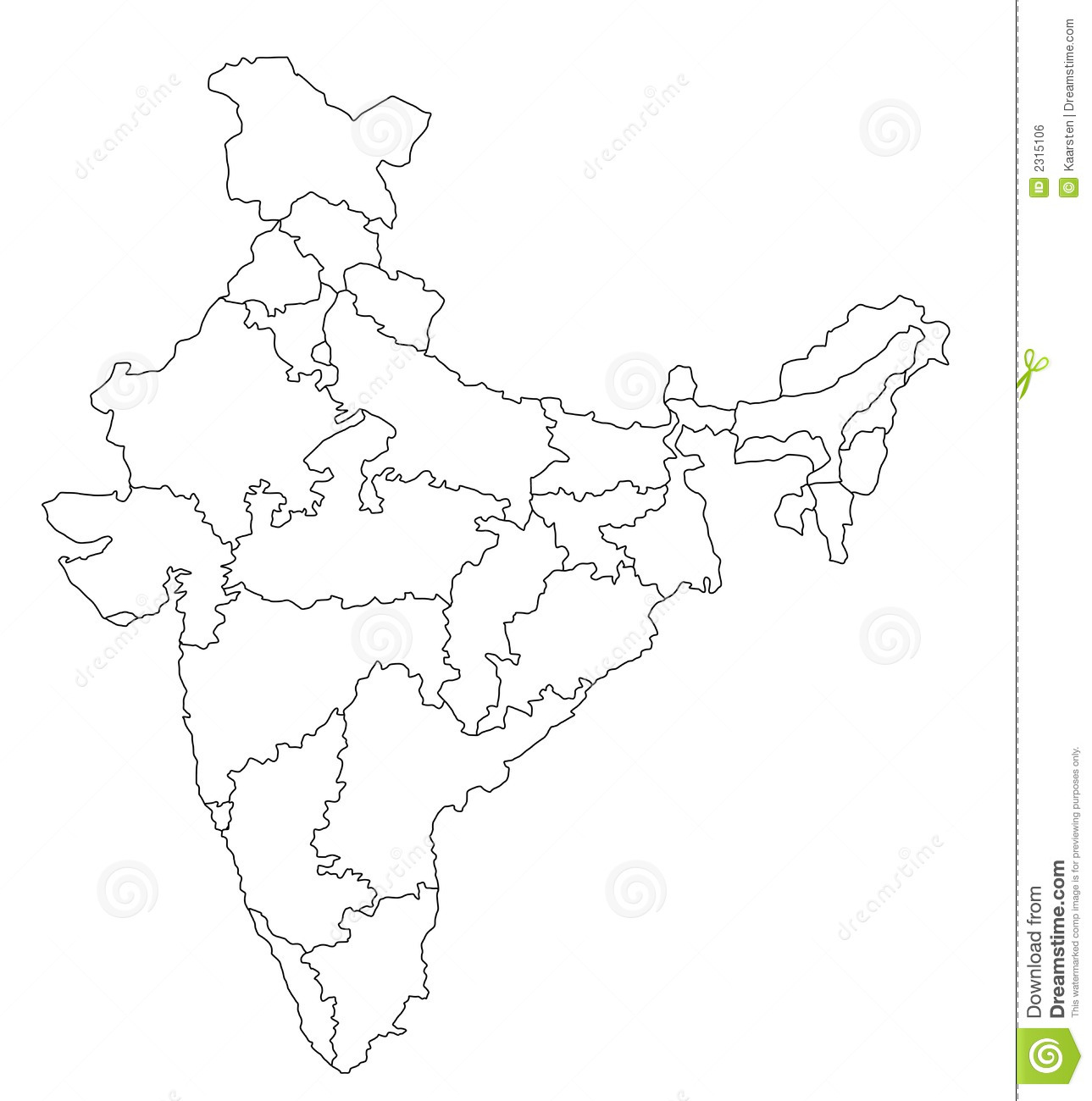 Mapa De India Imagem De Stock Royalty Free