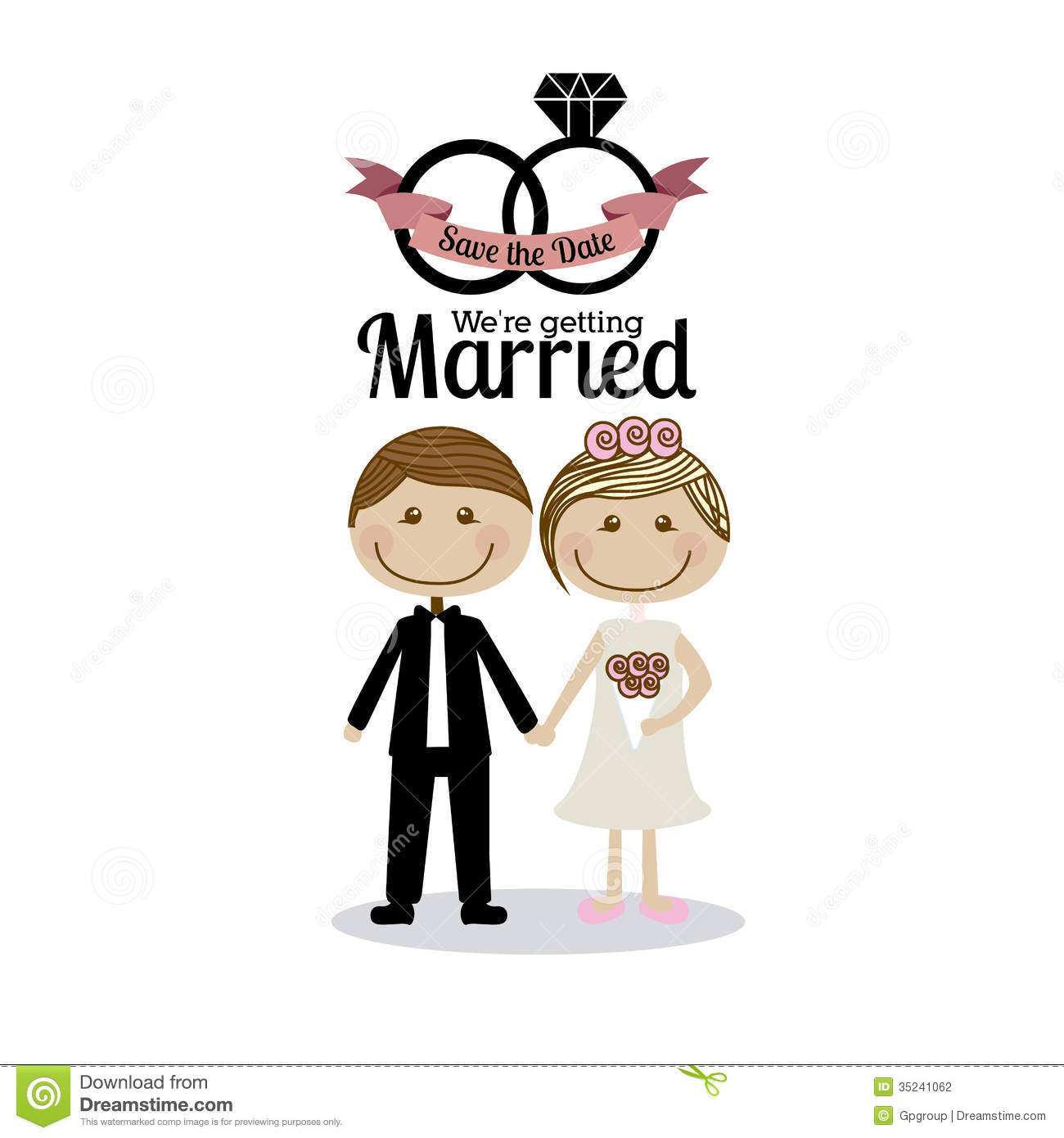 Married Design Stock Vector Illustration Of Cute Card