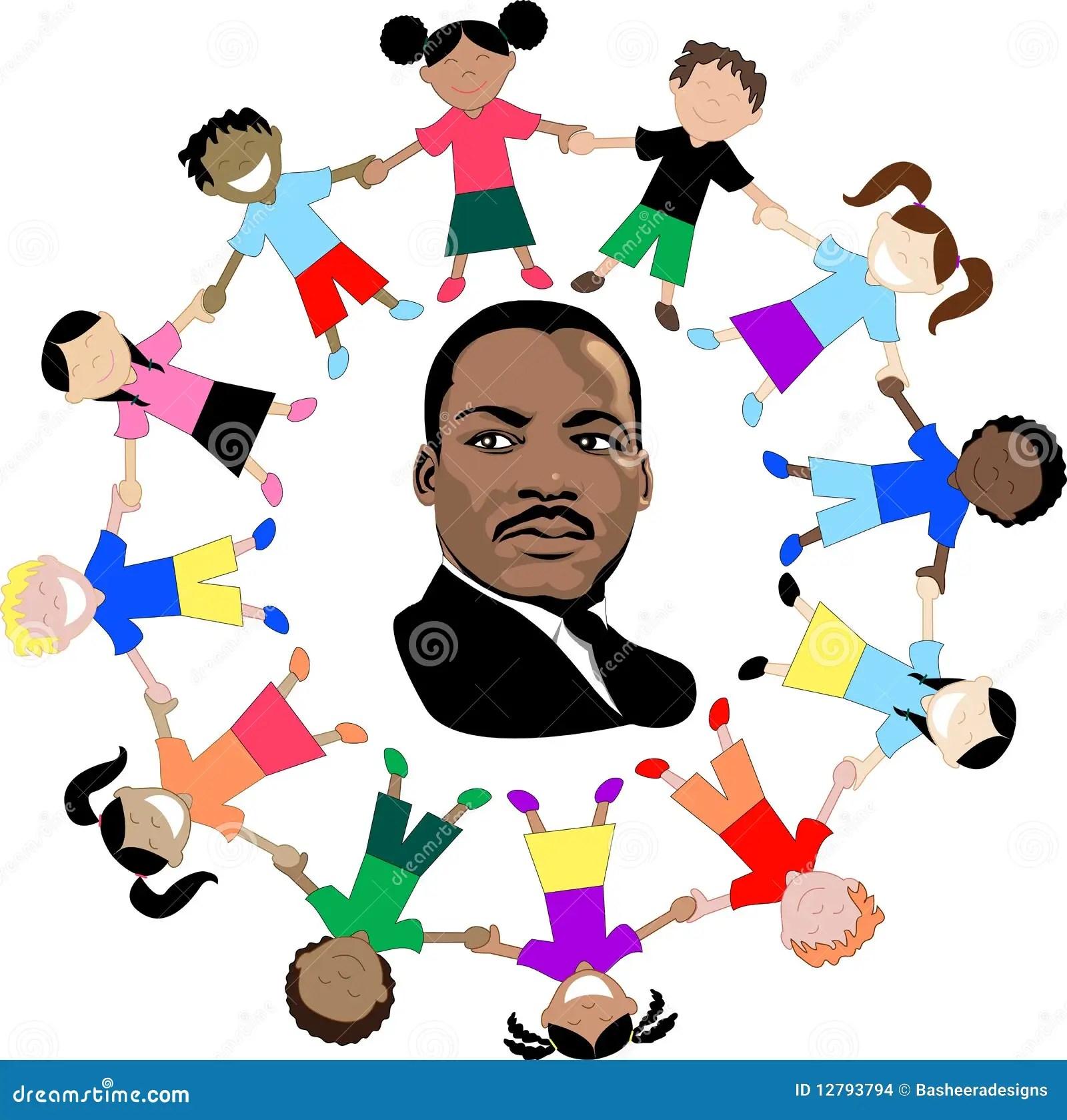 Martin Luther King Con I Bambini Immagine Stock Editoriale