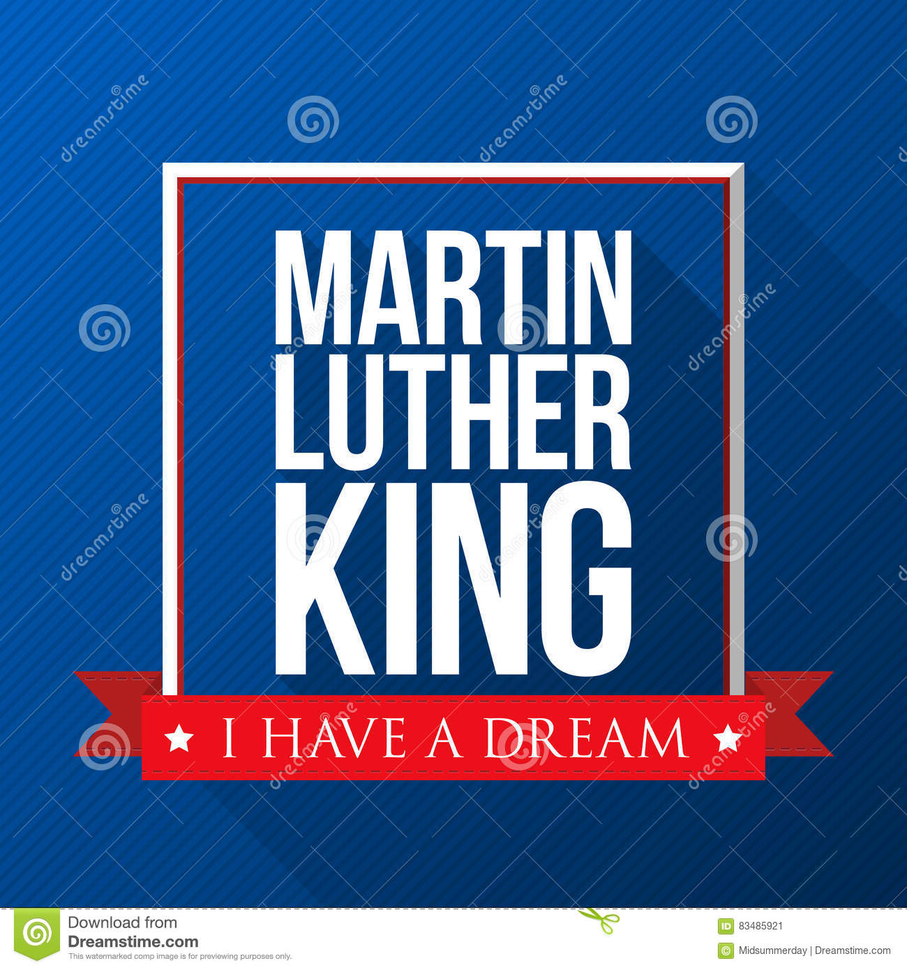 Martin Luther King Day Background Usa Patriotic Vector