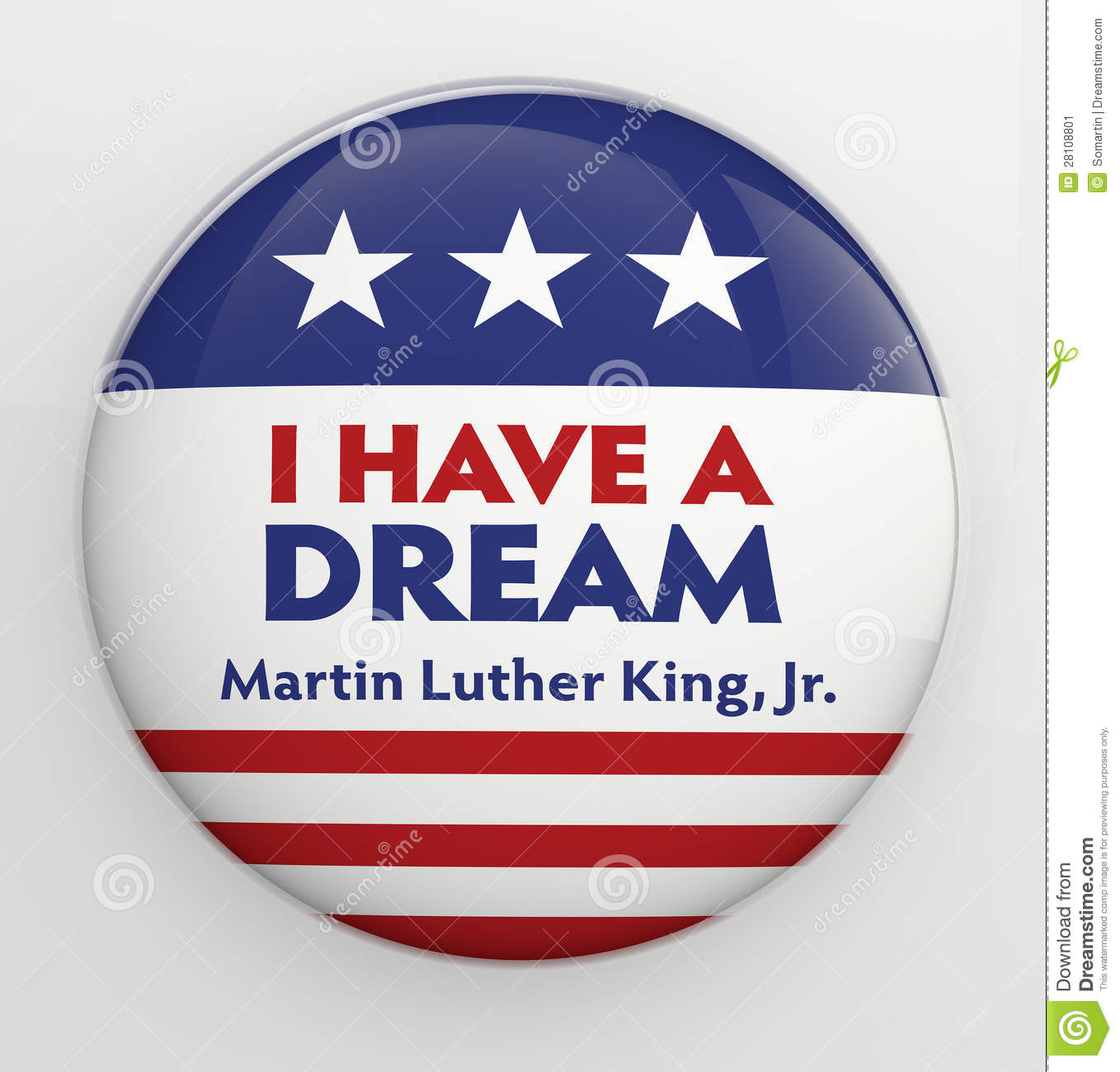 Martin Luther King Jr Button Editorial Photo