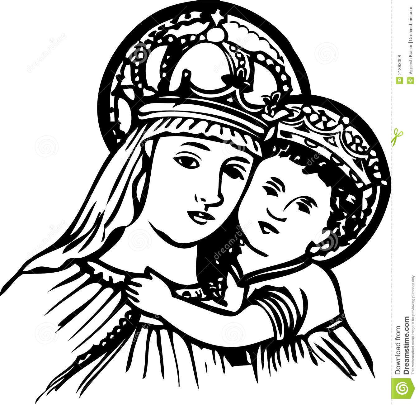 baby jesus clipart mary and baby jesus