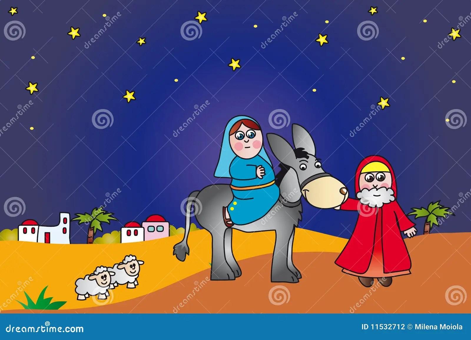 Mary And Joseph To Bethlehem Stock Illustration Illustration Of Bethlehem Graphic 11532712