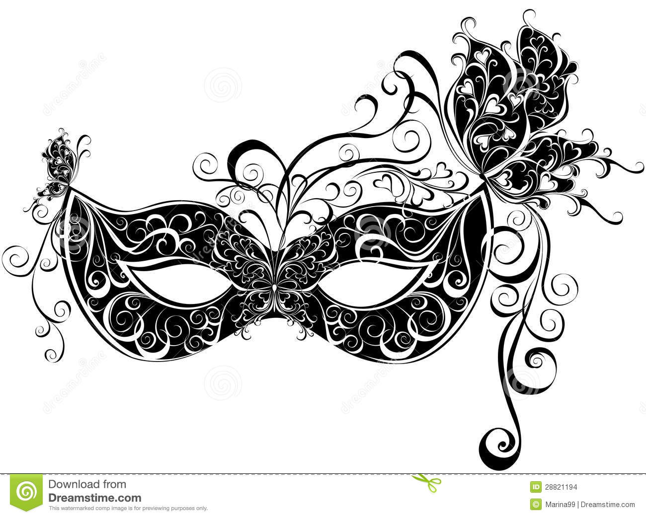 Masks For A Masquerade Stock Images