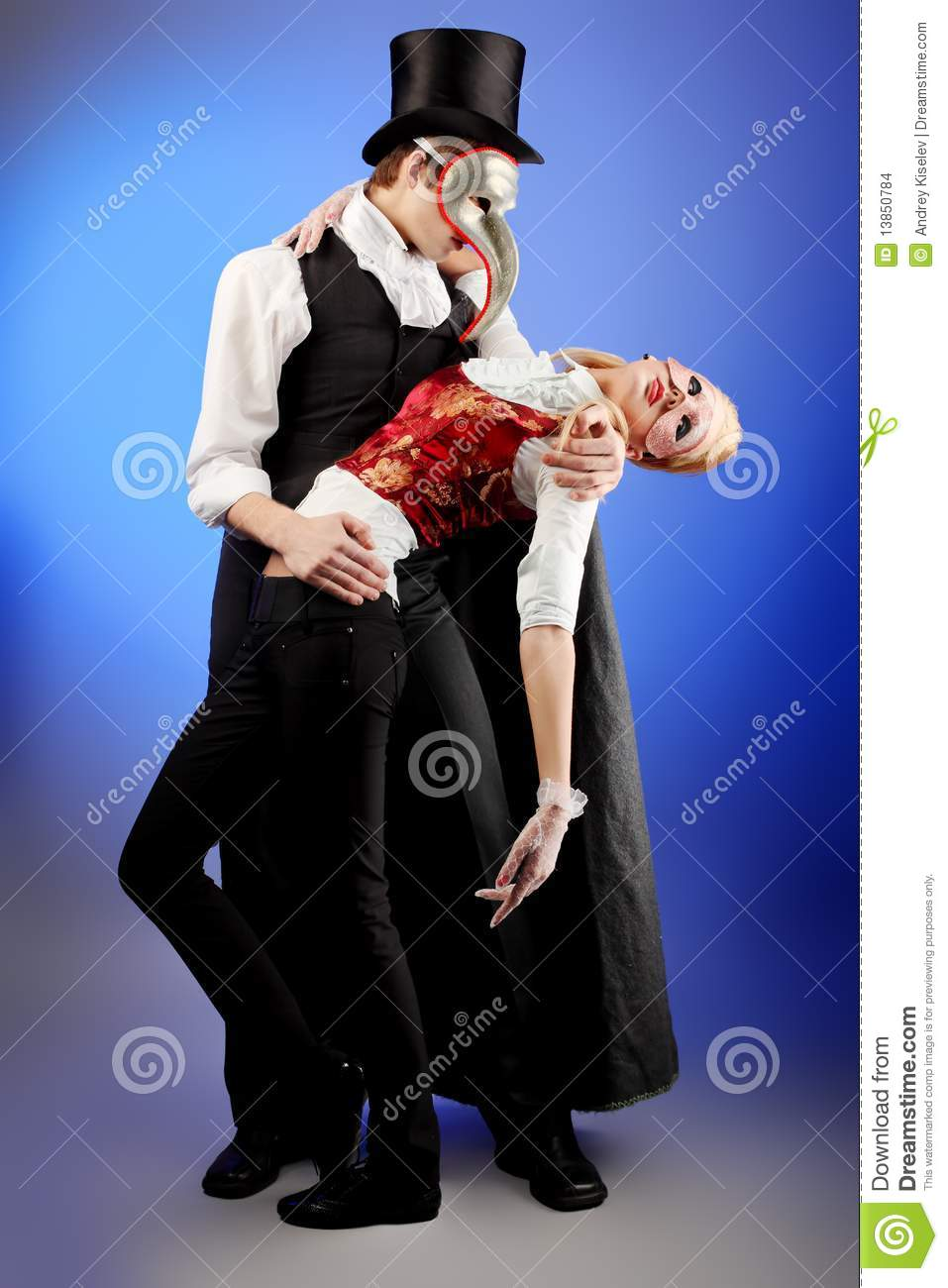 Masquerade Dancing Stock Photo Image Of Festive