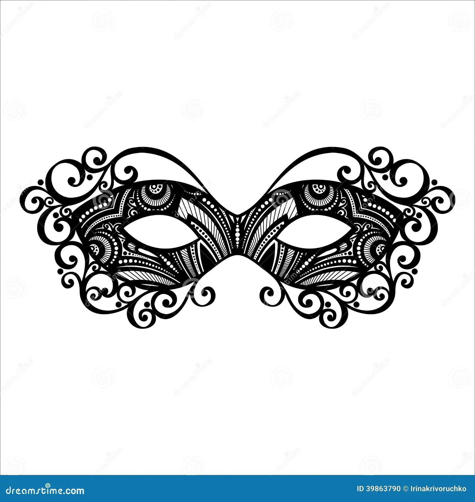 Masquerade Mask Stock Vector