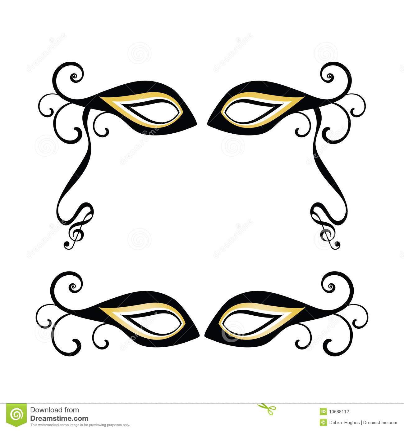 Masquerade Masks Stock Vector Illustration Of Feather