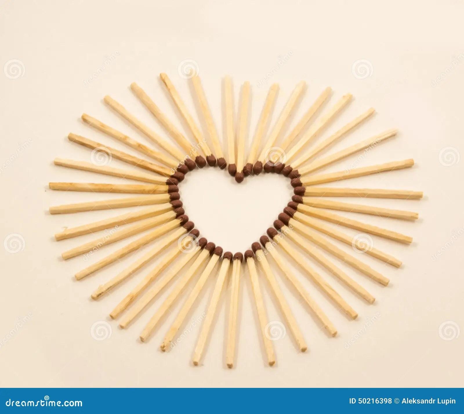 Match Heart Stock Photo