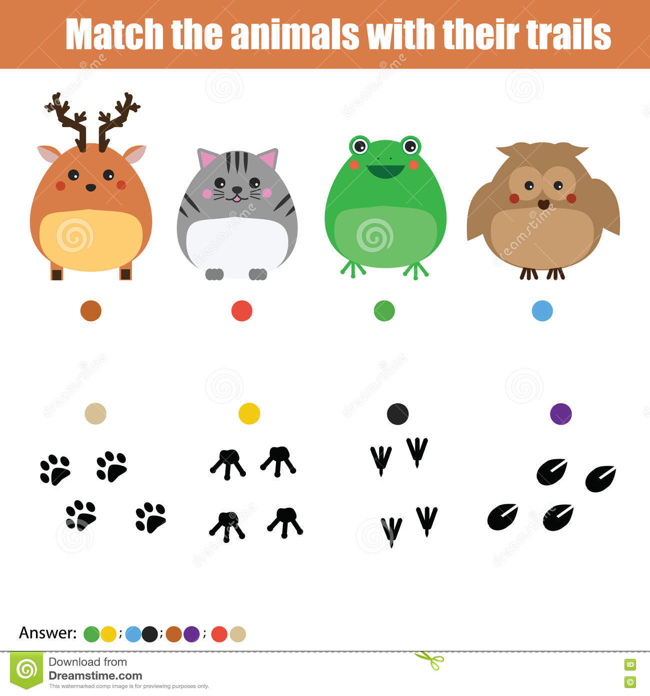 Mammal Worksheet Matching