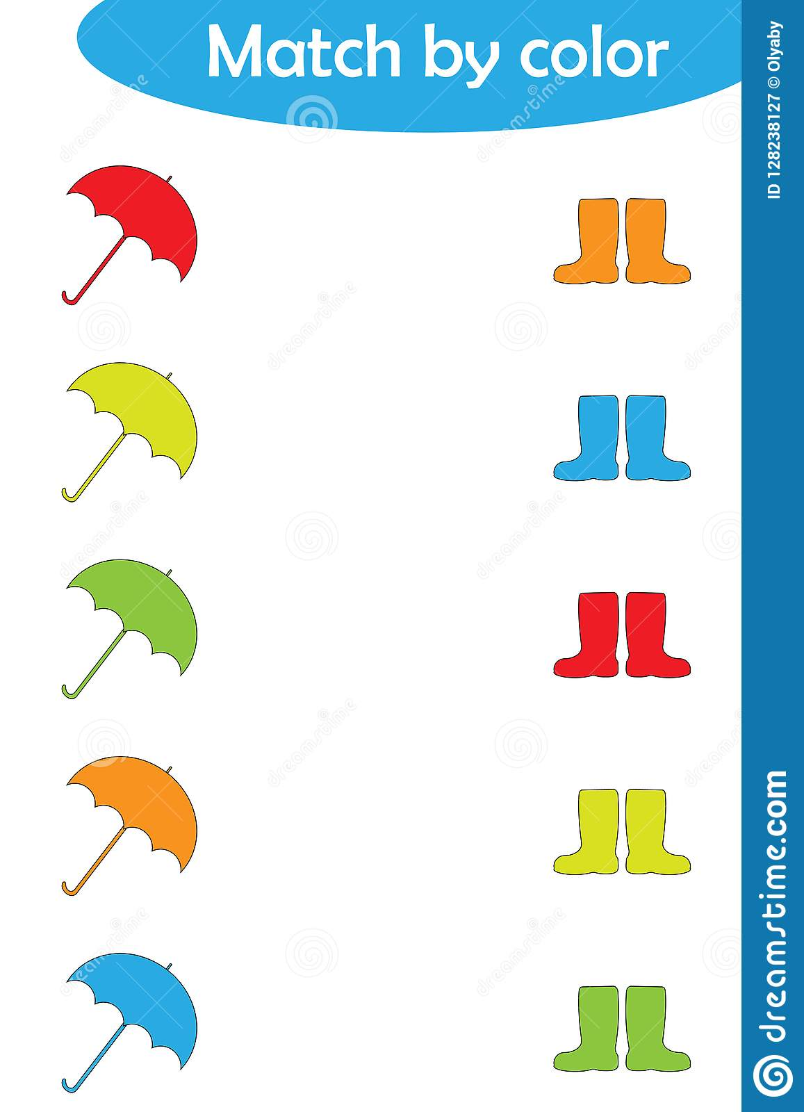 Preschool Color Sorting Worksheets