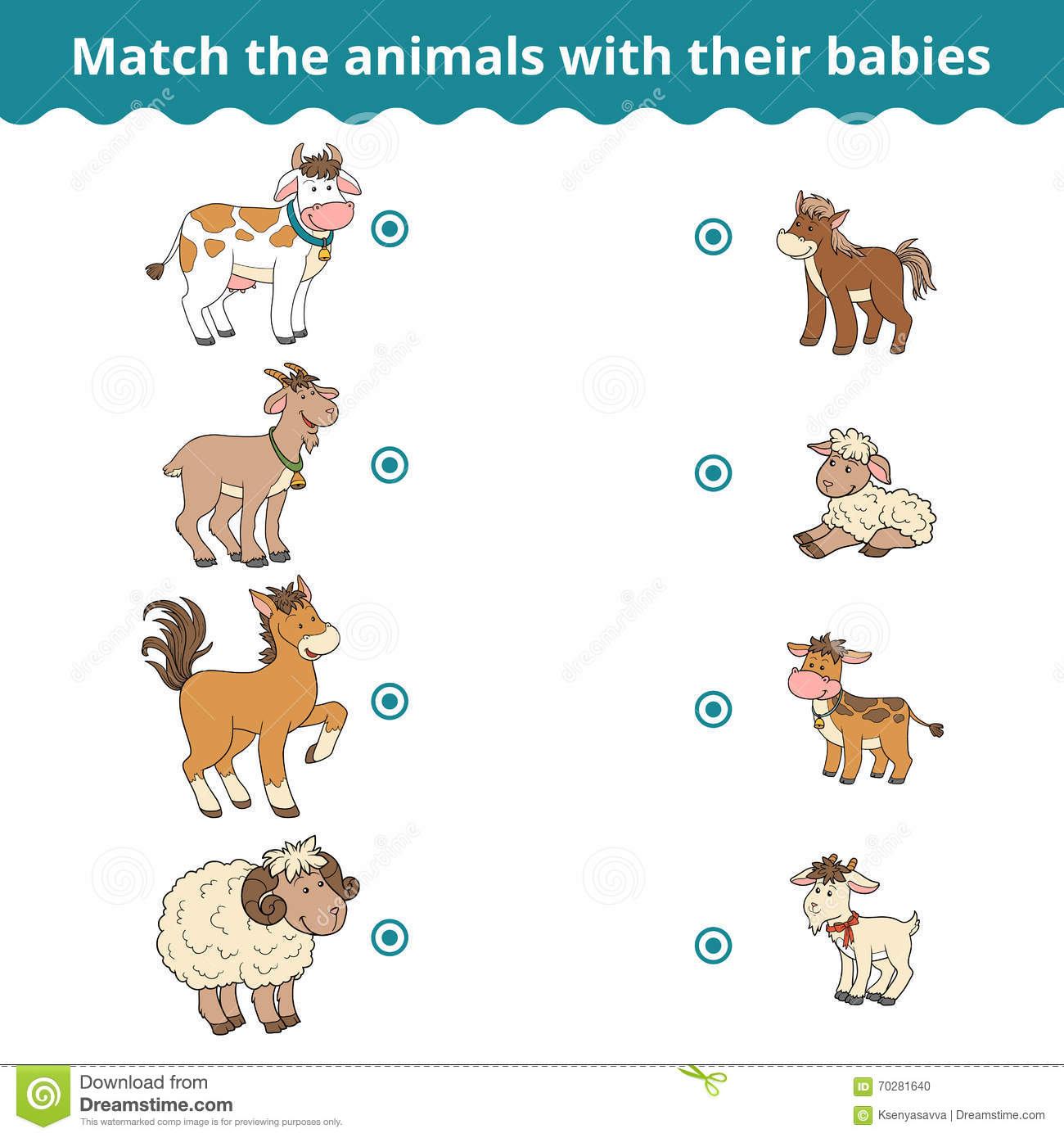 Farm Animal Sorting Worksheet