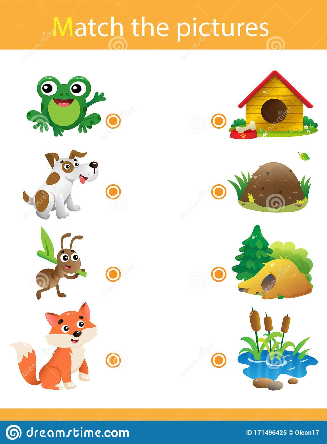 Matching Game Education Game For Children Puzzle For