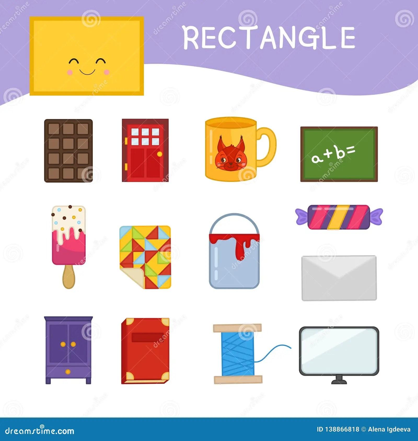 Rectangle Worksheets For Kindergarten