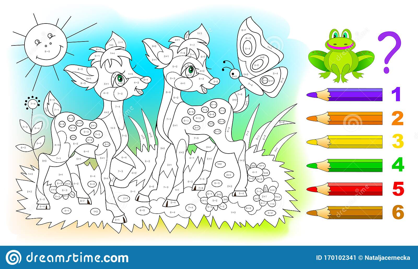 Math Education For Children Coloring Book Mathematical