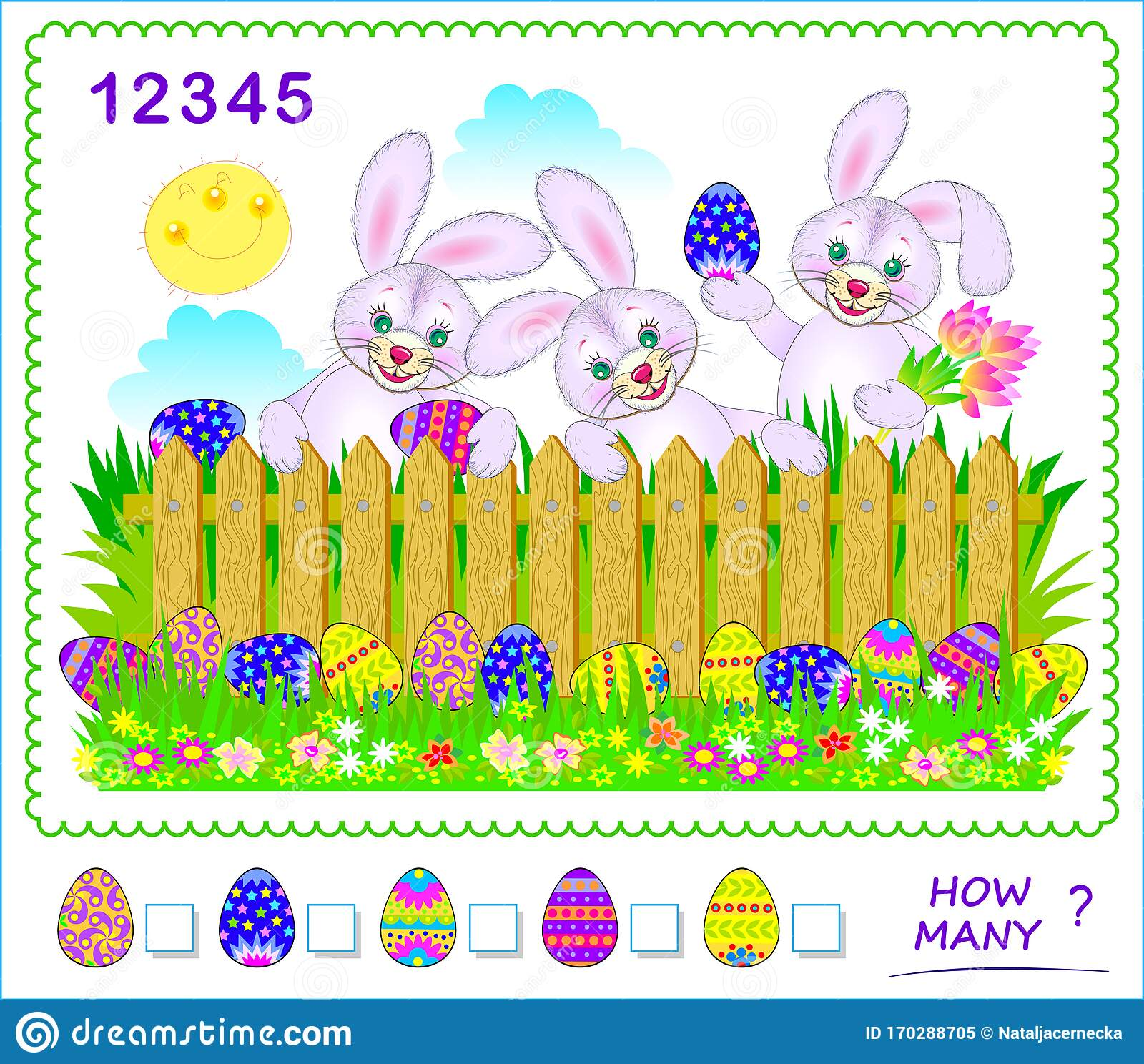 Math Education For Children How Many Easter Eggs Can You