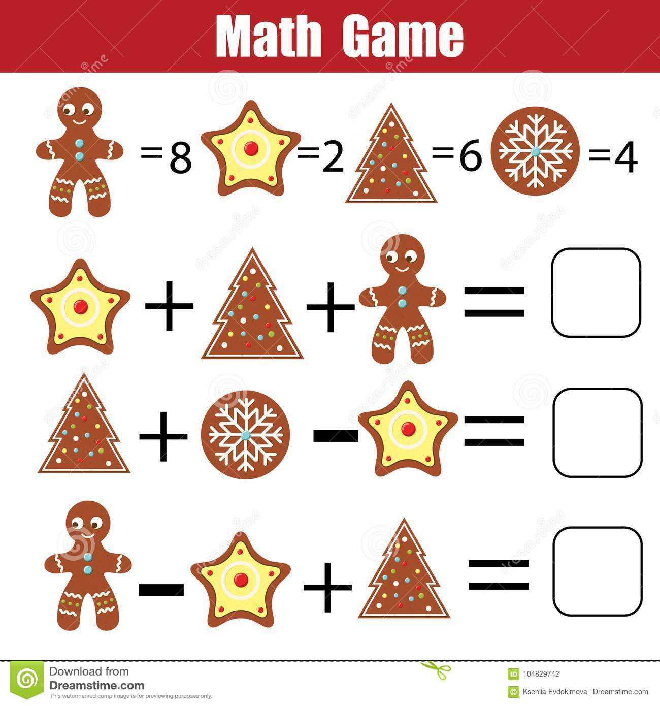 Math Educational Game For Children Mathematical Counting