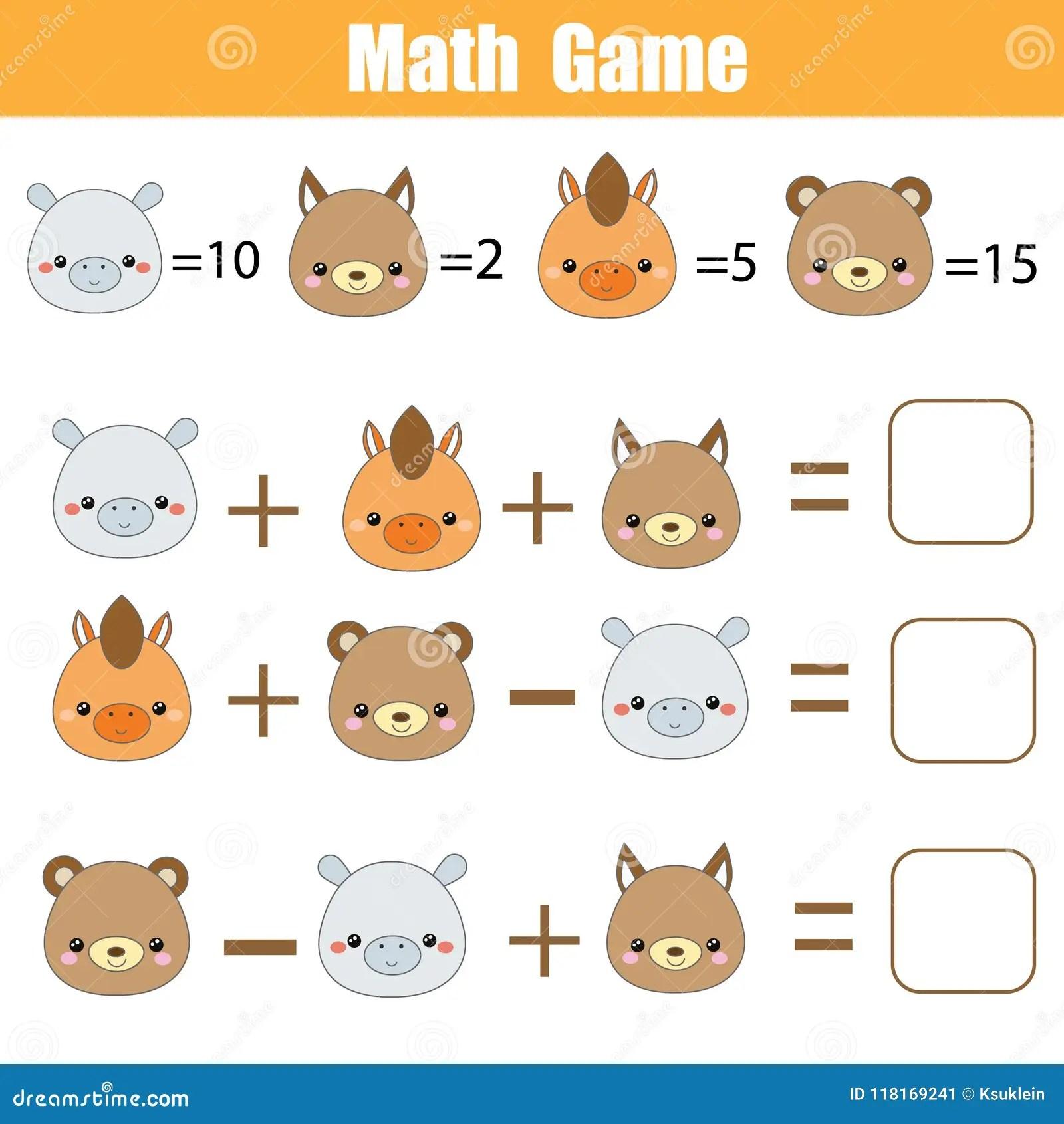 Math Educational Game Counting Equations Mathematics