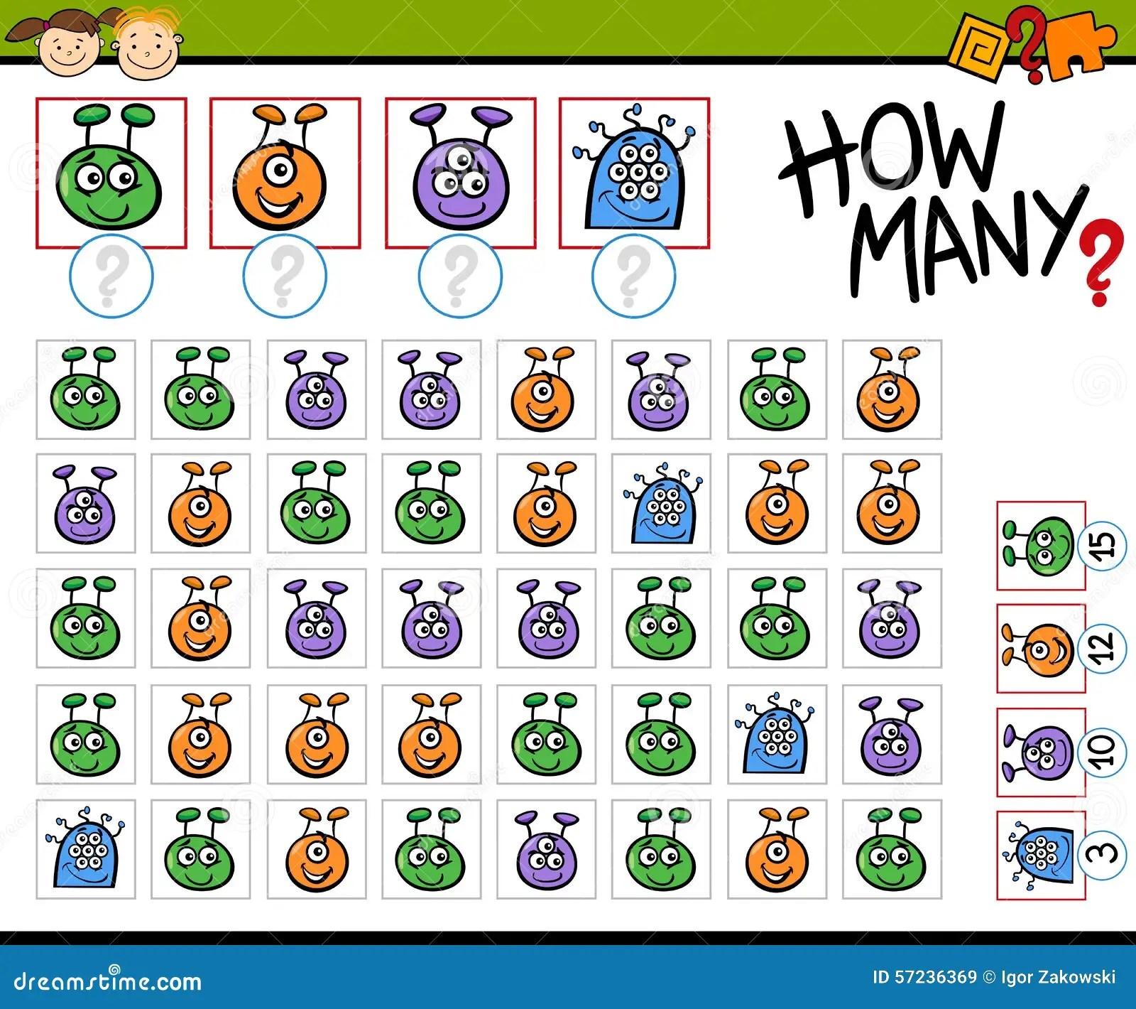 Math Game Cartoon Illustration Stock Vector