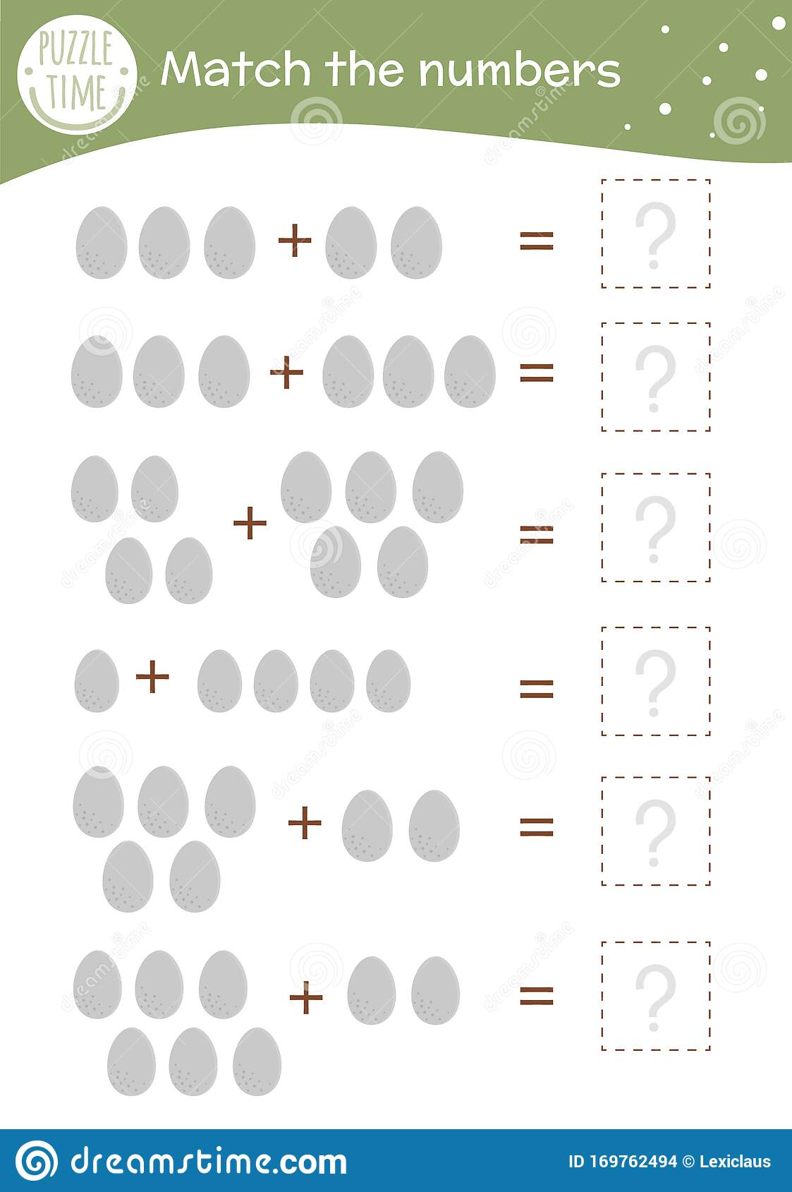 Math Game With Eggs Easter Mathematic Activity For