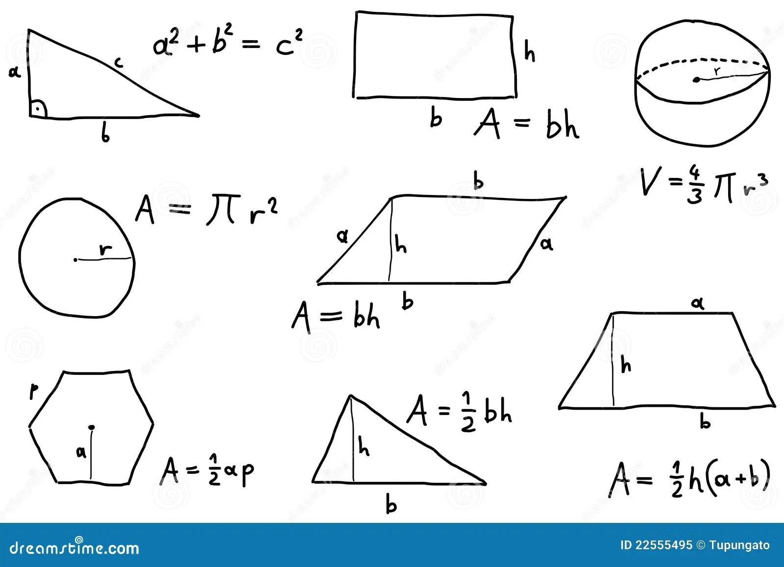 Math Lesson Stock Vector Illustration Of Area Education
