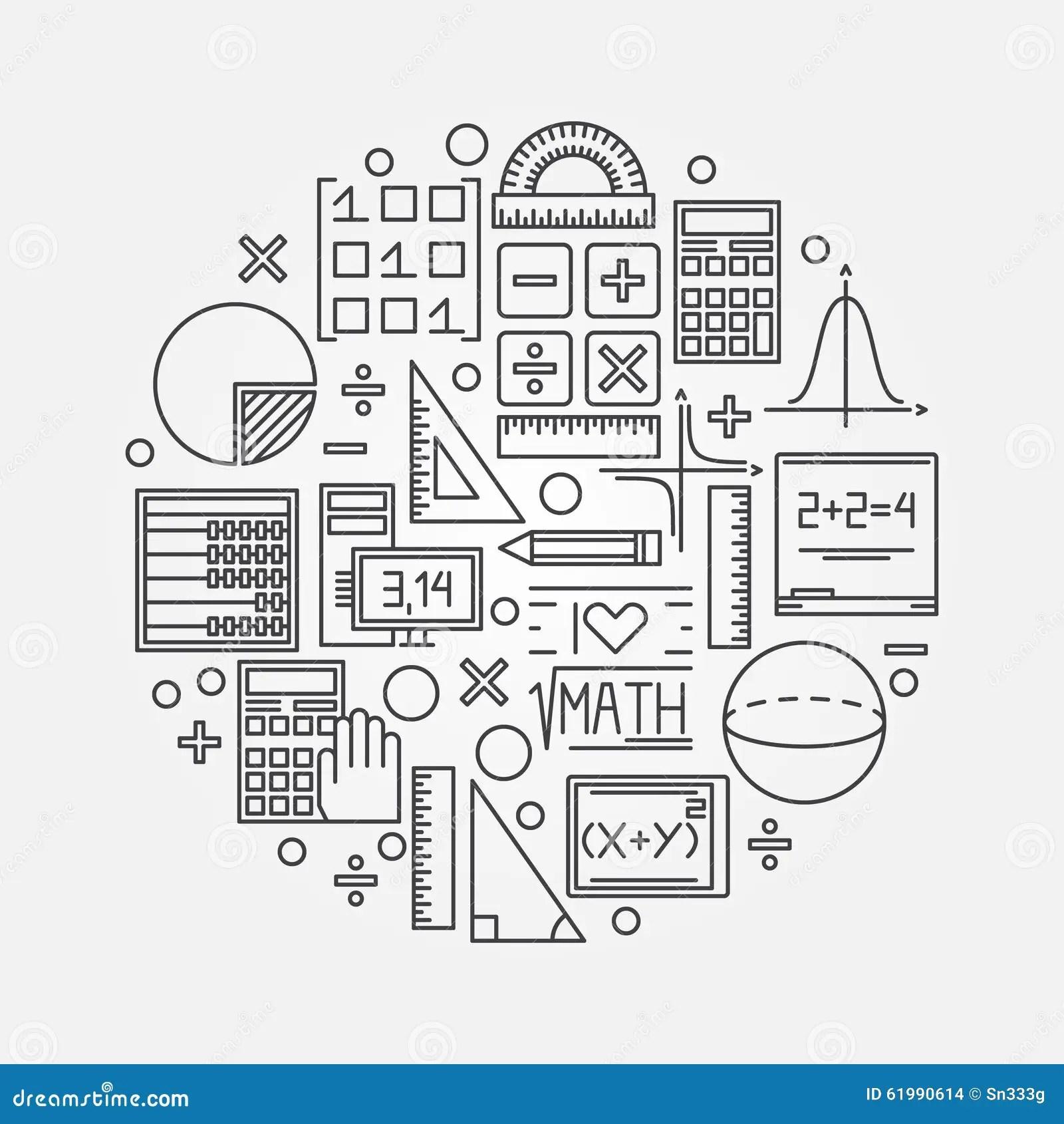 Math Linear Illustration Stock Vector Illustration Of Math
